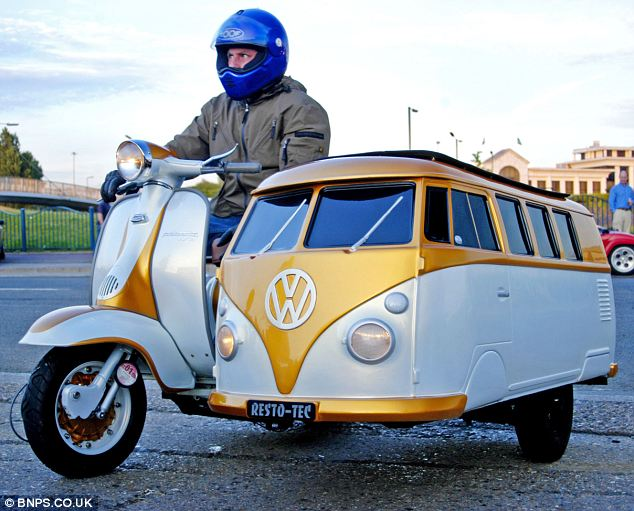 Dad Builds VW Camper Sidecar for Son